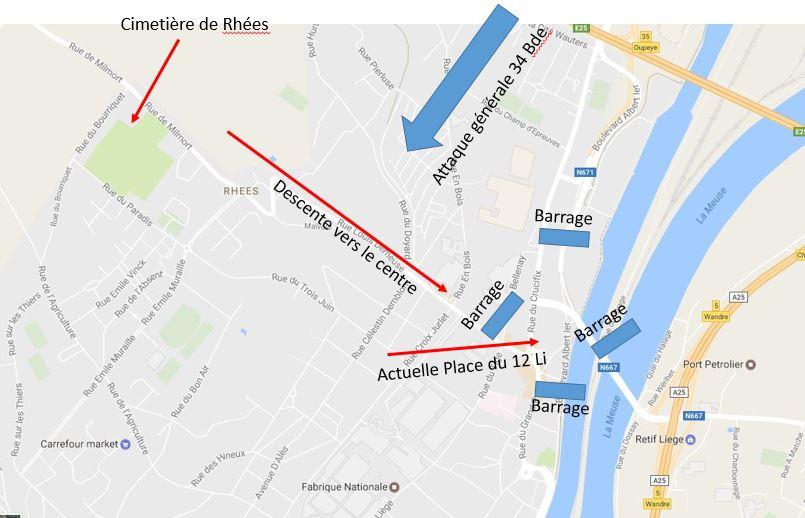 Carte Belgique Herstal.La Bataille De Liege